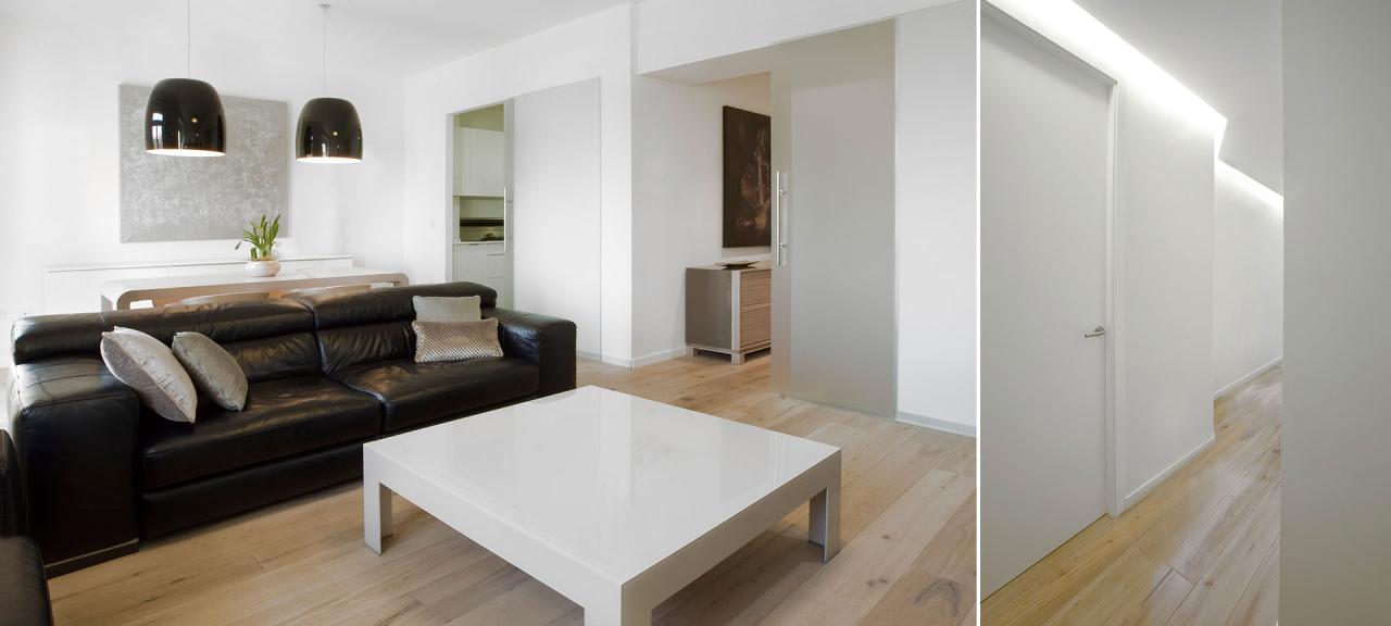 El blanco artificial y la madera natural