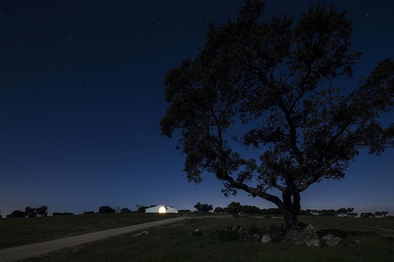 casa rural noche